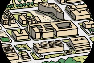 La place Marguerite Perey — Quartier de l'École Polytechnique